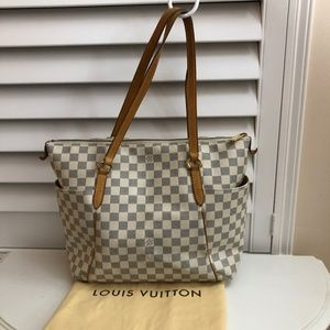 Louis Vuitton Totally Mm Damier Azur White…